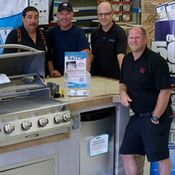 Valley Building Supplies Ltd. | staff around new grill