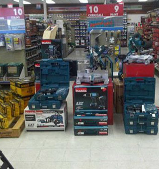 Valley Building Supplies Ltd. | showroom - tools display