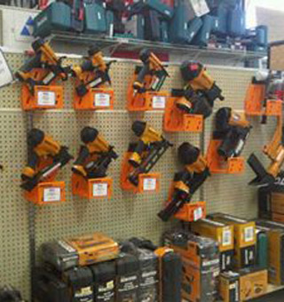 alley Building Supplies Ltd. | showroom - tools display
