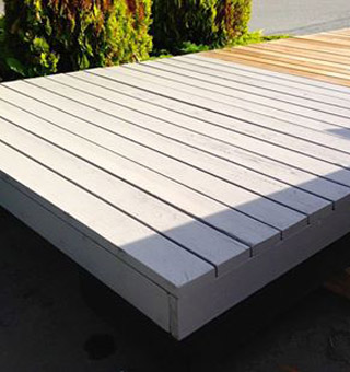 Valley Building Supplies Ltd. | deck being painted